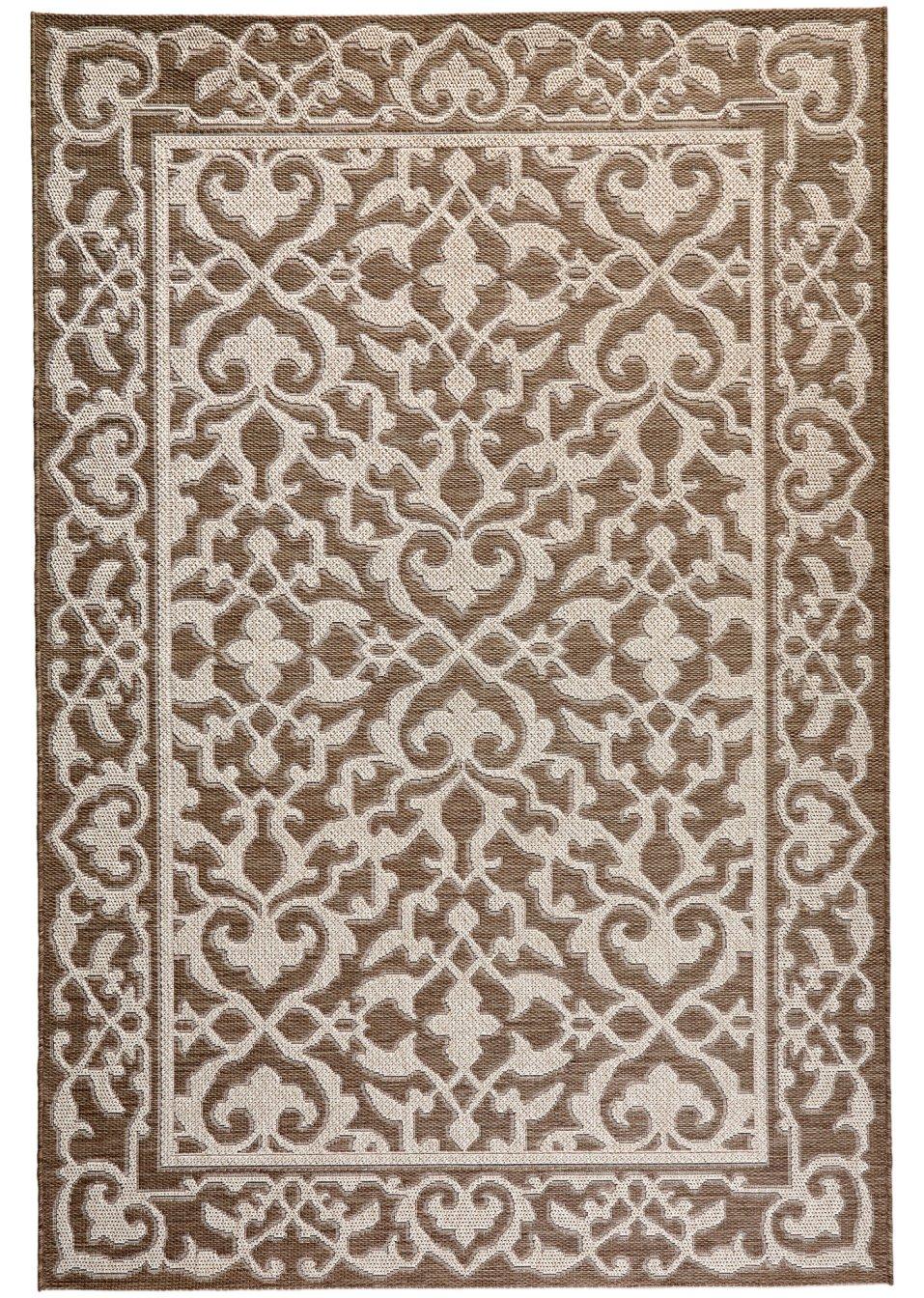 der moderne in und outdoor teppich florenz in harmonischer farbgebung braun. Black Bedroom Furniture Sets. Home Design Ideas