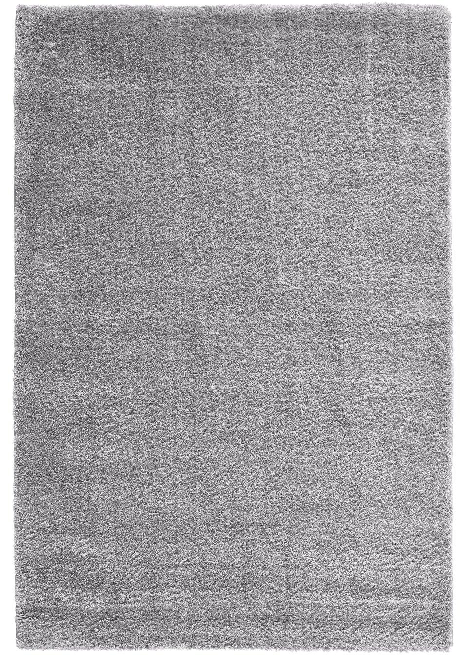 optik und haptik in einklang beim hochflor teppich genf hellgrau. Black Bedroom Furniture Sets. Home Design Ideas