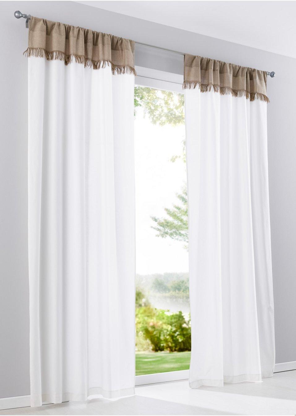 vorhang fransen 1er pack natur wohnen bpc living. Black Bedroom Furniture Sets. Home Design Ideas